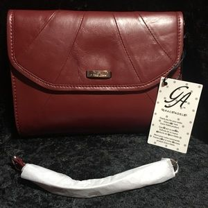 Rue Leather Clutch - Red