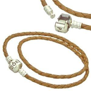 Pandora Double Brown Leather Cord bracelet