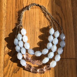 Chunky blue Statement Necklace