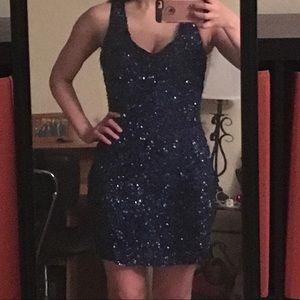 Parker Open Back Embellished Dress