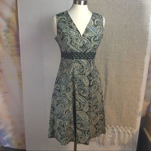 Paisley midi Dress w/Pockets 10P