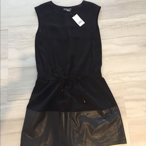 NWT VINCE BLACK DRESS LEATHER XS