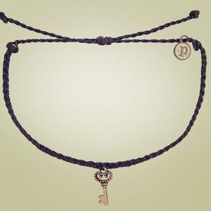 ⭐️NEW PURAVIDA Silver Black Key Bracelet
