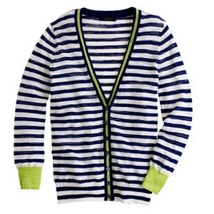 J Crew Retail Striped Gauze Cardigan