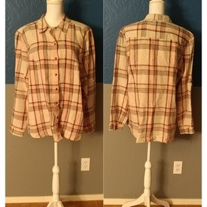 Style & CO Button Down Top Plus Size 18