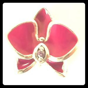 Pandora Radiant Orchid Enamel Purple CZ Bead