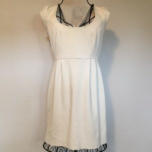 French Connection Cream Sheath Dress