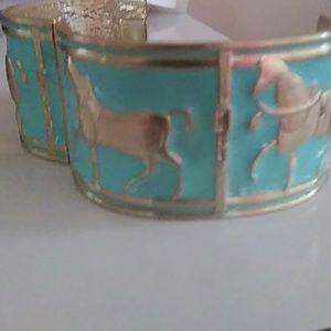 Turqoiuse horse bangle braclet