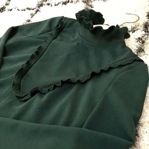 Zara Hunter Green Dress, NWT