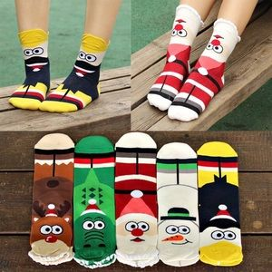 5 - Pair Holiday Socks