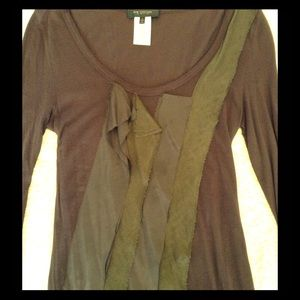 Brown MM Couture by Miss Me L/S shirt size M