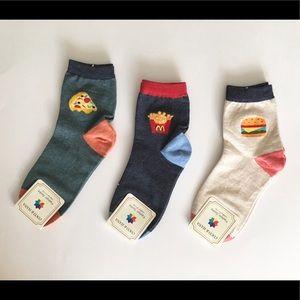 3- Pair Fast Food Socks