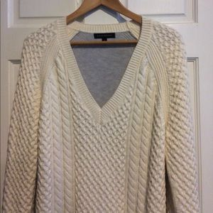 Banana Republic two tone fisherman tunic sweater