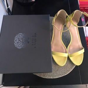Vince Camuto VOJesta Daffodil Yellow Heel Sandals