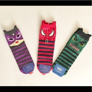 3- Pair Marvel Comic Socks