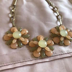 Pink, Green and Gold Necklace