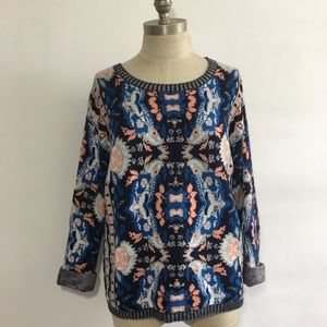 Anthropologie Parrot Novelty Moth Sweater med