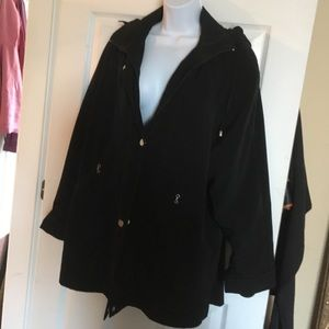 Woman's Black Car Coat