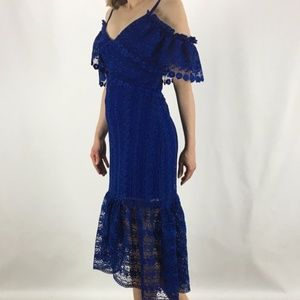 THREE FLOOR salsa cold shoulder lace Dress 2
