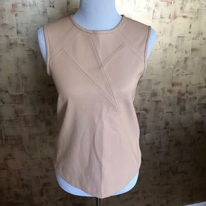 Zara faux leather top