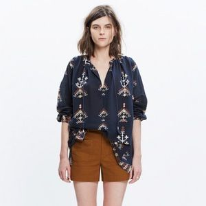Madewell Folkstitch Top (NWOT)