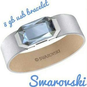 Swarovski active crystal USB leather bracelet