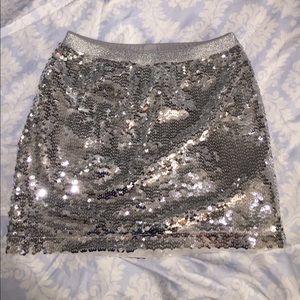 GAP Silver sequin sparkle skirt