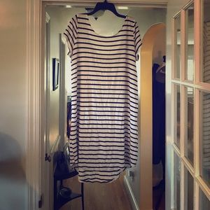 Stripped t shirt dress