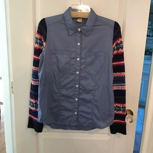 Free People Denim Sweater size small