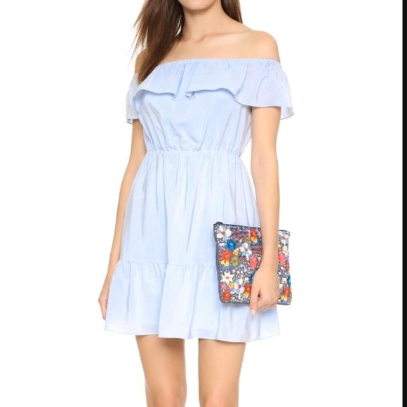 e2e73d55eafb Club Monaco Dresses   Skirts - Club Monaco Adeva Ice Blue Silk Off Shoulder  Dress