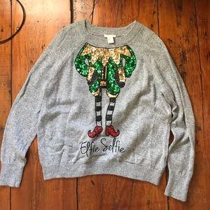 Elfie selfie sweater