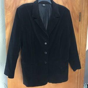 Jackets & Blazers - Corduroy jacket in black.  Size 2x