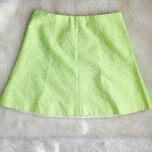 J. CREW Neon Mini Skirt with Exposed Zipper Sz 8