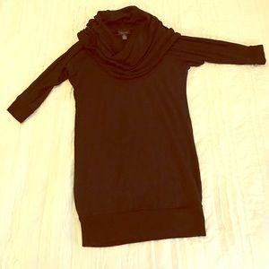 A Pea in The Pod Black Cowl Neck 3/4 Sleeve Tunic