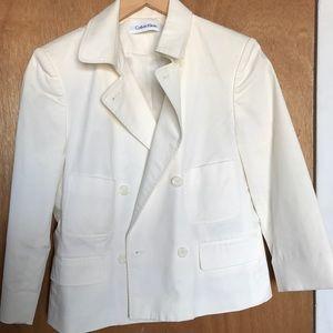Calvin Klein White Pea Coat Size 6