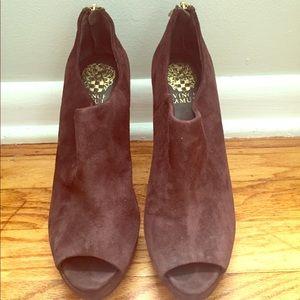 Vince Camuto Peep-Toe Heel Booties