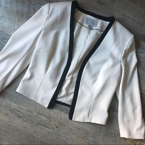 H&M Cream and Black Blazer Jacket - 12
