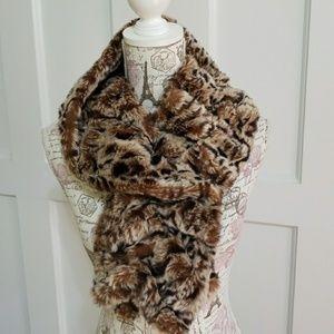 Betsey Johnson Faux Fur Scarf Collar