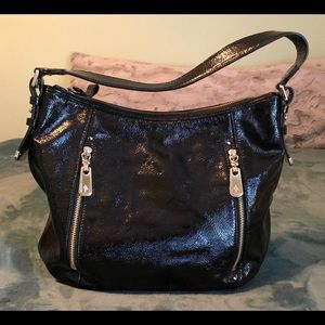 Cole Haan - Black Patent Leather Hobo