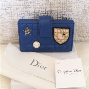 New Christian Dior Lady Dior Cannage Card Holder