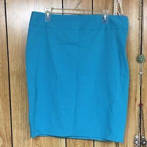Teal pencil skirt