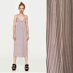 Zara Trafaluc Striped Midi Dress Size M
