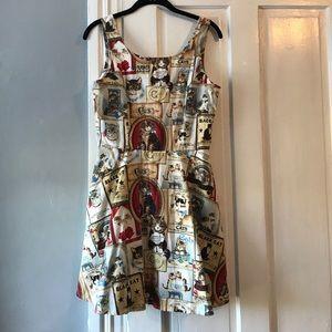 Modcloth Cat Dress, Size Medium