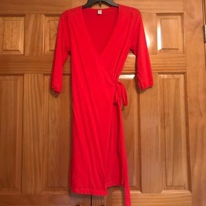 Old Navy Wrap Dress Small S 3/4 length sleeves