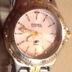 MEN'S TWO TONE FOSSIL WATCH