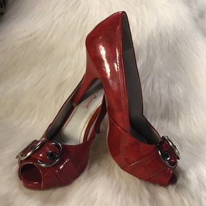 🆕ANNE MICHELLE DEEP RED SHOES