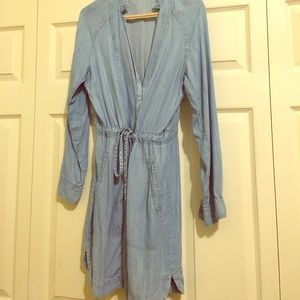 Lou & Grey by Loft soft wrap jean dress size med.
