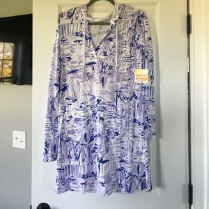 Lilly Pulitzer UPF 50+ Rylier Coverup -MED