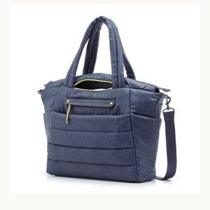 HAPP Designer Denim Tote Diaper Bag NWT