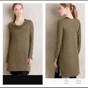 Anthropologie Pure + Good Cowled Jersey Tunic